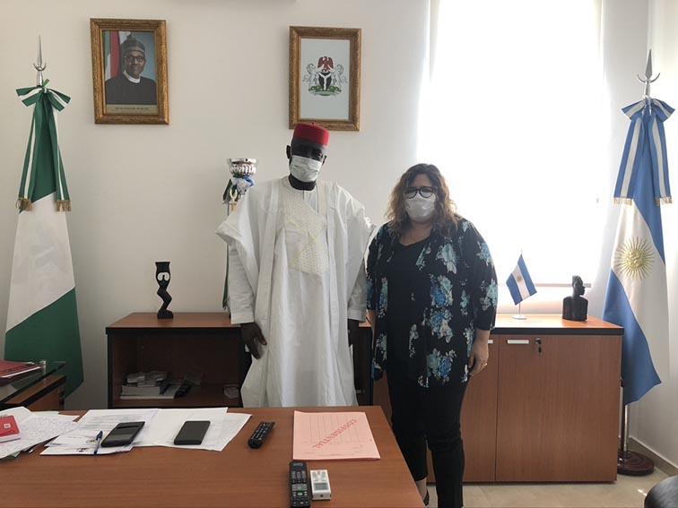 Reunión en la Embajada de Nigeria en Argentina